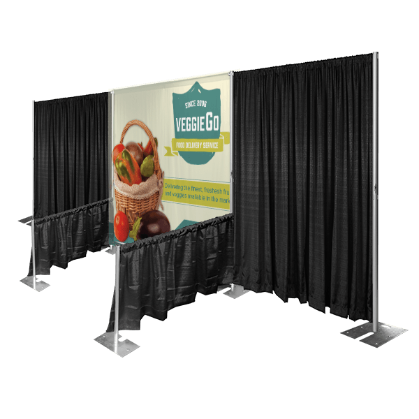 custom exhibit backdrop fabric trade show display