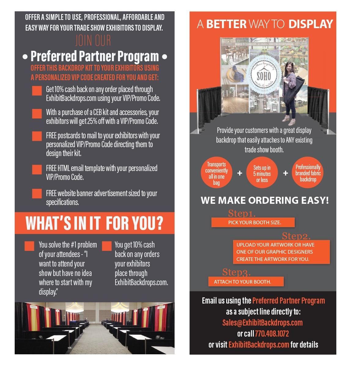 Preferred Partner Program - Custom Exhibit Backdrops