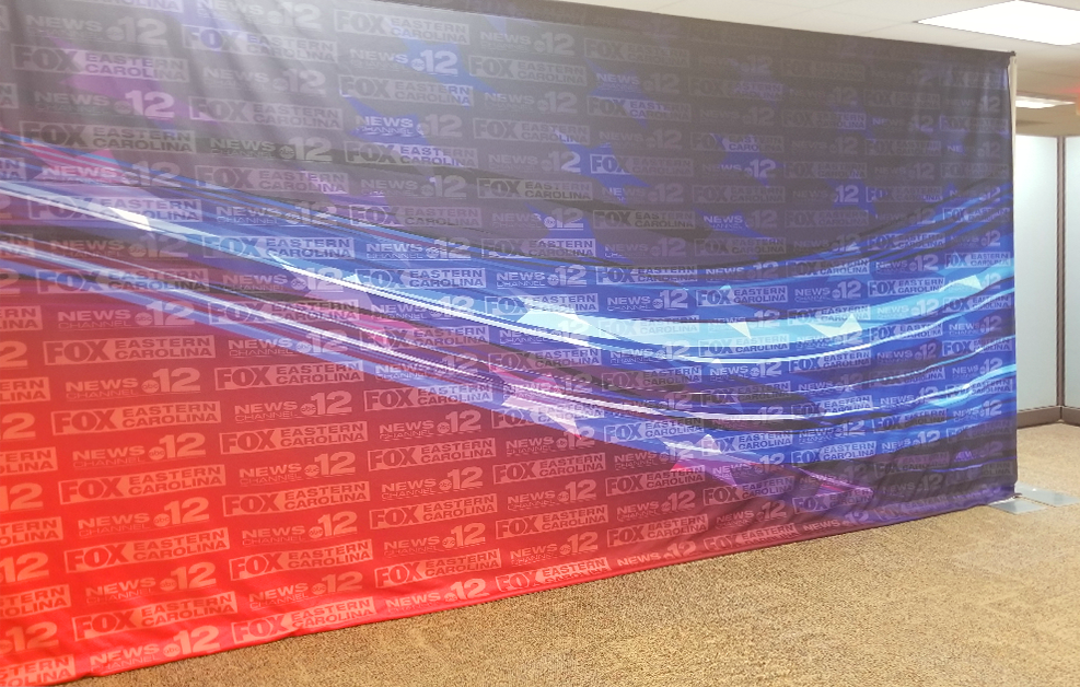 News Studio Backgrounds and Printed Fabrics - Custom Exhibit Backdrops